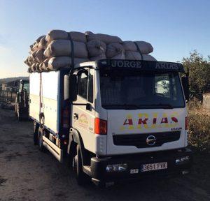 Transporte de pimiento y tabaco norte de extremadura