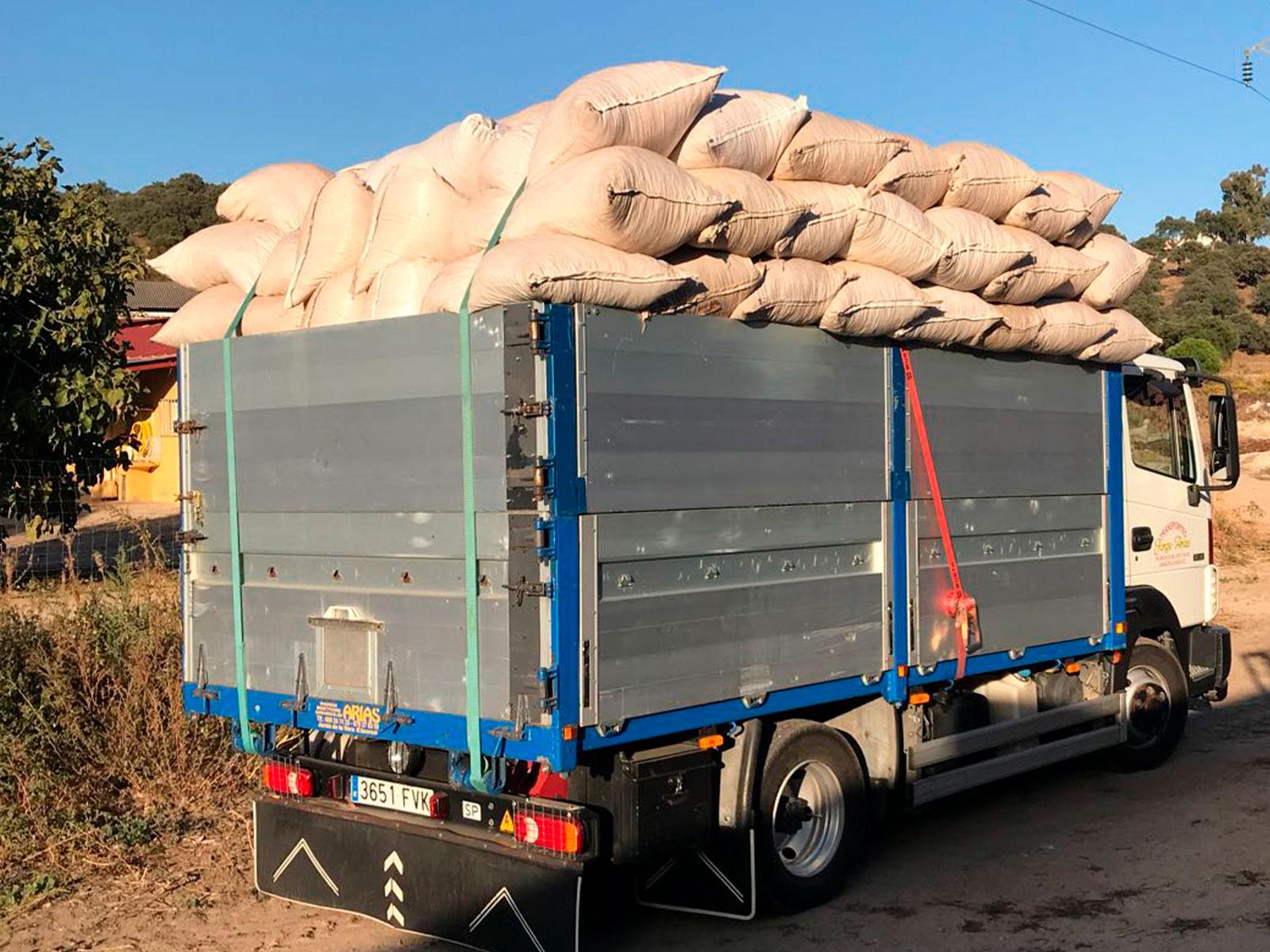 transporte de sacos arso